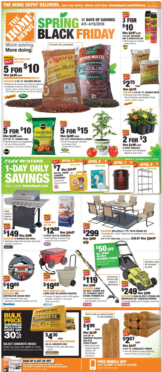 Home Depot Spring Black Friday Page 1