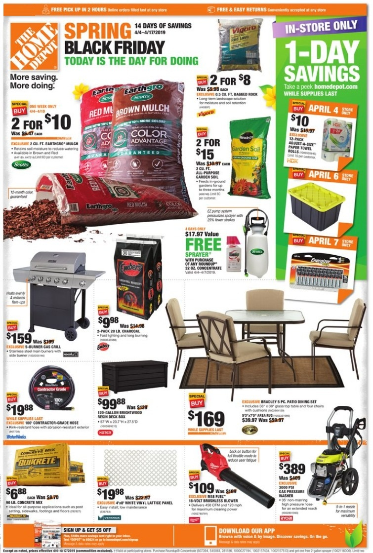 Home Depot Spring Black Friday 2019 Ad Deals And Sales